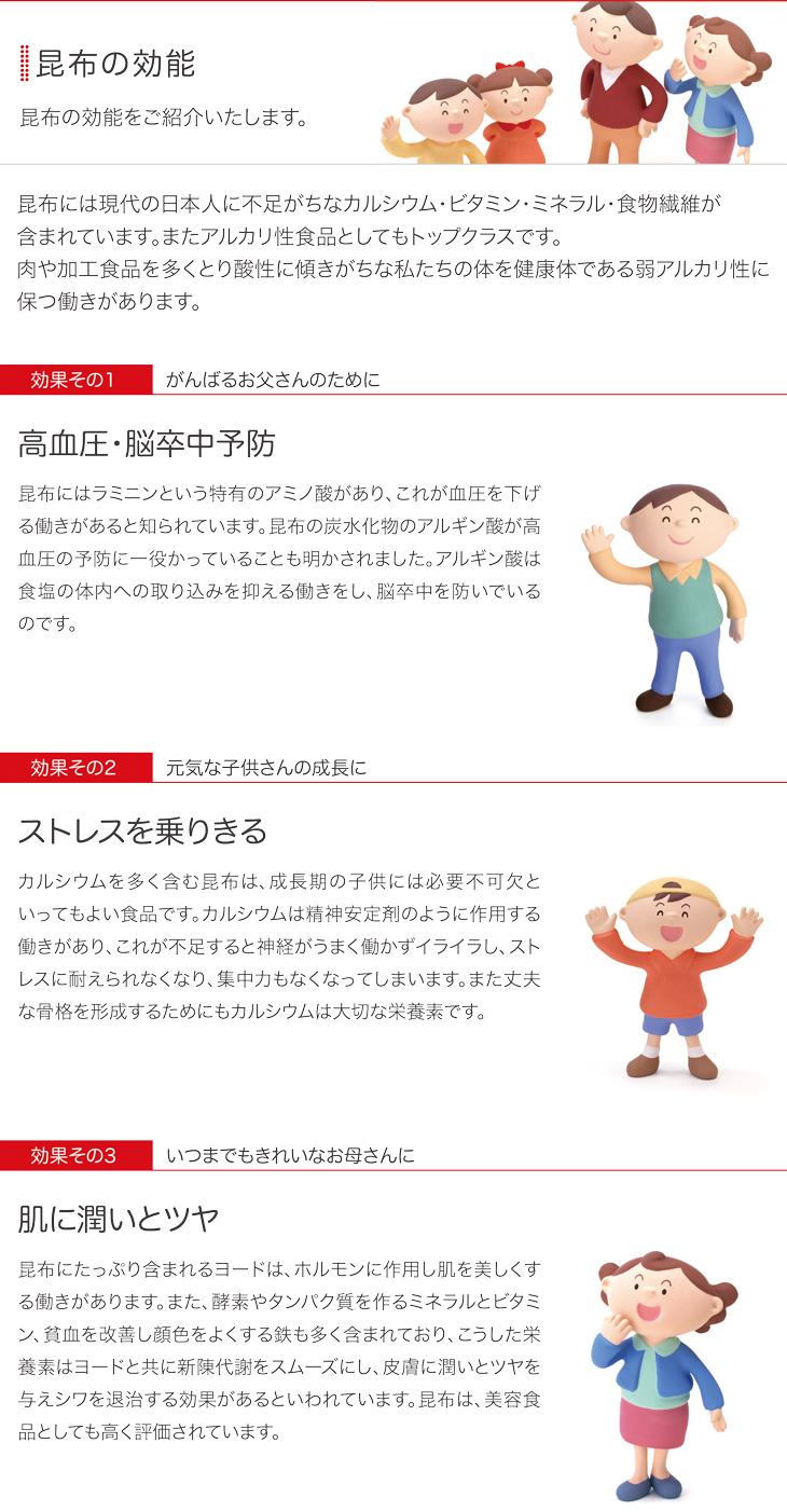 昆布の効用 日本の味に欠くことのできない昆布。その効用をご紹介。